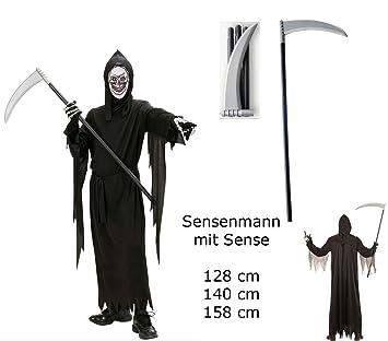 TOP SET Kinder Kostüm Gr. 158 SENSENMANN TOD + Sense +