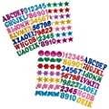 6 Sheets Glitter Foam Stickers - Self Adhesive Letters, Numbers, Stars and Shapes for Kids Crafts and Scrapbooking