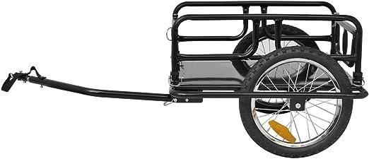 Festnight Remolque para Bicicletas de Carga 50 kg Negro: Amazon.es ...