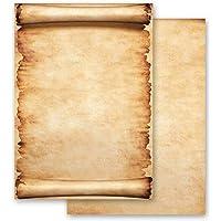 Papel de carta PERGAMINO Antiguo & Historia Certificado - 100 Hojas formato DIN A4 - Paper-Media