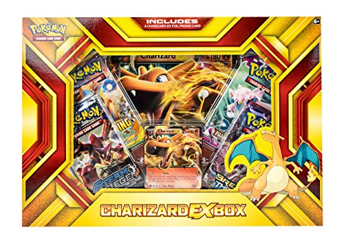 - Pokemon Cards POK16CHAREXBX TCG: Charizard-EX Box Fire Blast Card Game, Multicolor