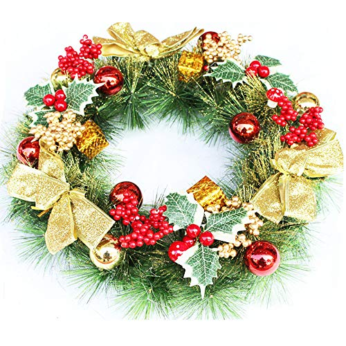 Christmas Wreath Red and Gold Christmas Wreath Autumn Berries and Foliage Front Door Wreath For Christmas And Fall Wreath Display (multicolor)