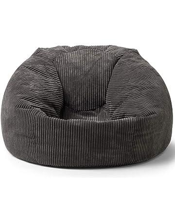 icon Soul Classic Cord Bean Bag Chair - Giant Luxury Jumbo Cord Snuggle  Seat (Charcoal ce0beb04cd50e