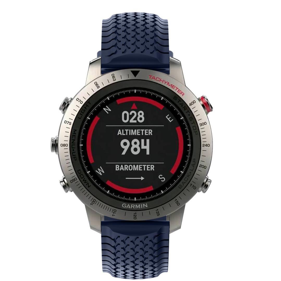WensLTD交換用シリコンソフトバンドストラップfor Garmin Fenix Chronos GPS Watch B06XG2RYZT ネイビー