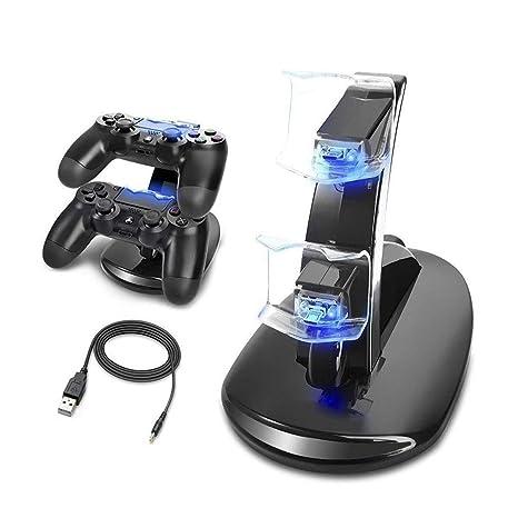 Cargador Mandos PS4 Musou Estación de carga rápida con LED ...