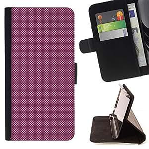 Momo Phone Case / Flip Funda de Cuero Case Cover - PURPLE Modelo de puntos - Samsung Galaxy S5 Mini, SM-G800
