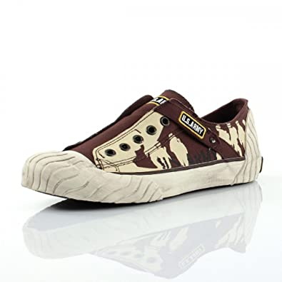 Us Army Brigade Marron - Chaussures Baskets basses Femme