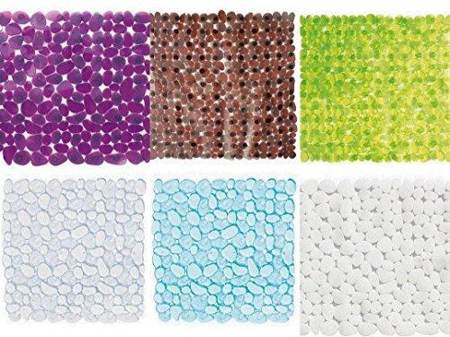 Wohnideenshop Duscheinlage Plain grün transparent 53cm x 53cm Steinoptik und in anderen Farben zur Auswahl