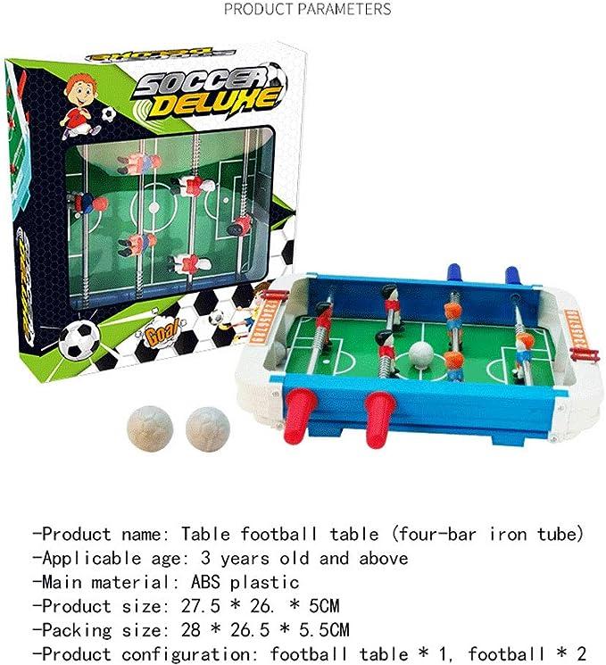 SXJC Juego De Mesa De Fútbol Juguetes De Fútbol para Niños Foosball De ABS Tablero Portátil Mini 27.5 * 26. * 5Cm, A Partir De 3 Años: Amazon.es: Deportes y aire libre