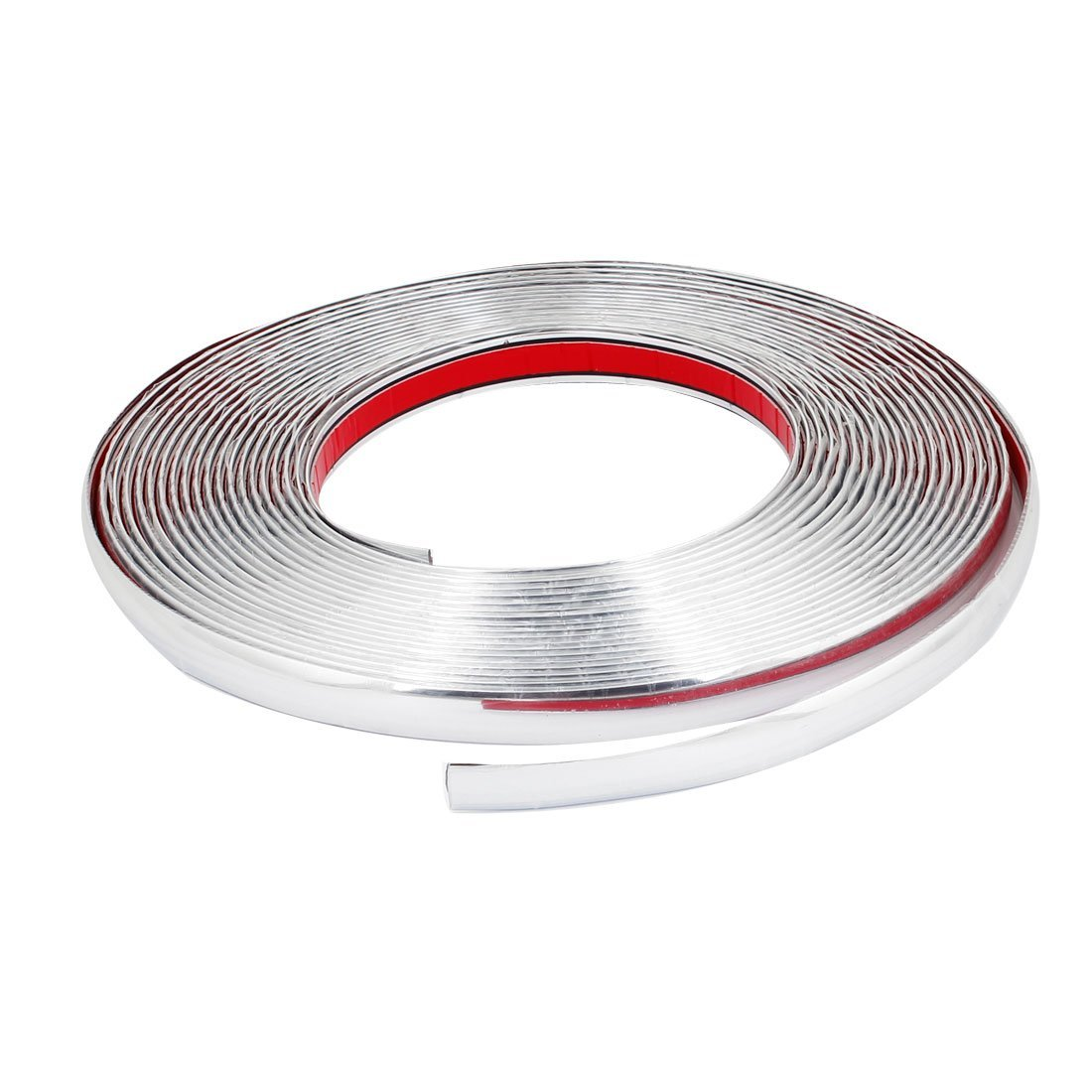 uxcell Car Decoration Silver Tone Soft Chrome Moulding Trim Strip 18mm x 15M