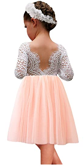 9bdbead8ab73c 2Bunnies Girl Peony Lace Back A-Line Straight Tutu Tulle Party Flower Girl  Dresses