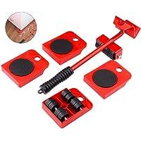 GEMITTO Meubelroller, 5-delig, meubelroller, meubelglijsysteem, draagkracht per 150 kg, anti-slip coating, voor…