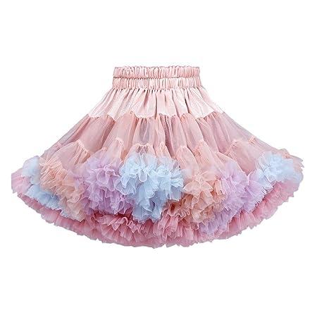 JJAIR Ballet Capas de Tul Arco Iris, Tutu Falda para Las niñas ...