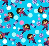 quilter flannel - 10 FAT QUARTERS DORA EXPLORER NICKELODEON ) 100% COTTON FLANNEL FABRIC