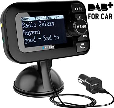 AutoDAB Go Universal agregar en DAB Digital Radio De Coche Con Bluetooth Y Antena