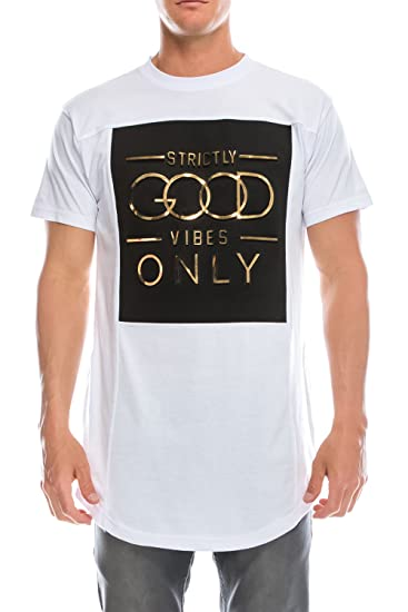 8ac8a0e6418c16 UPSCALE Mens Good Vibes T-Shirt White S