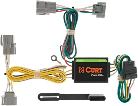curt 55513 vehicle side custom 4 pin trailer wiring harness for select toyota t 100 pickup, toyota tacoma toyota tacoma trailer hitch covers toyota tacoma trailer wiring #6