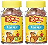 L'il Critters Omega-3 Vitamin Gummy Fish, 60 Count (Pack of 2)