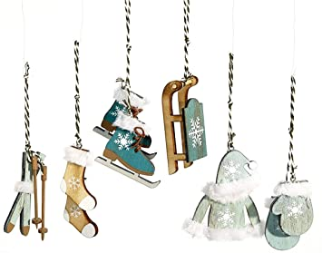 Amazon De Heitmann Deco Christbaum Schmuck Behang Set Aus Holz