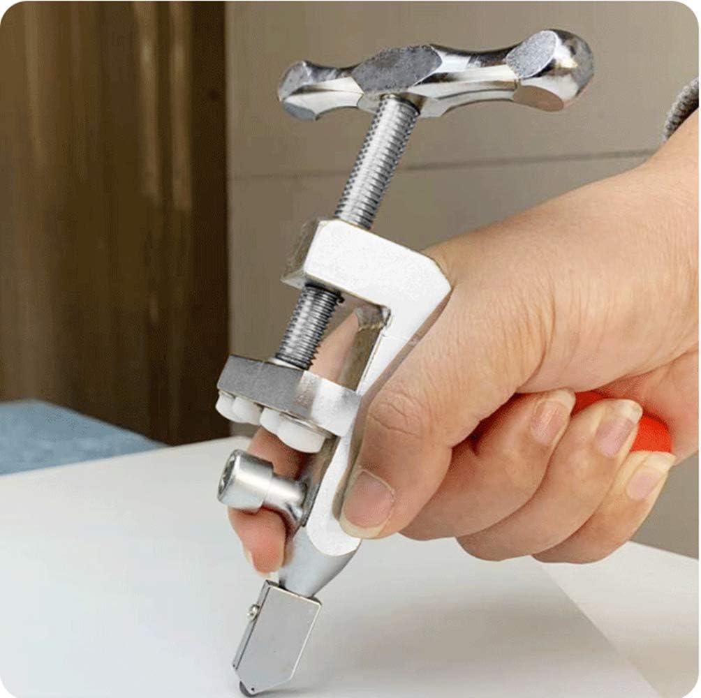 Herramienta port/átil de corte de vidrio multifuncional con rodillo profesional 2 en 1 para cortar gruesos azulejos de diamante dom/ésticos.