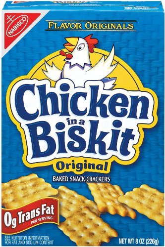 Flavor Originals Chicken in a Biskit Baked Snack Crackers, 8 Ounce Boxes (Pack of 72) by Flavor Originals