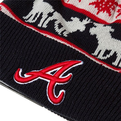 Atlanta Braves MLB Navy / Rouge / Blanc The Mooser New Era Beanie Chapeau Taille Unique