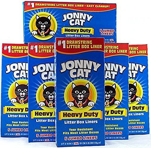 Pan Litter Liners Cat (JONNY CAT Cat Litter Box Liners 5 / Box (Pack of 6))
