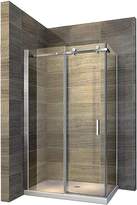 Unbekannt Mampara de ducha con puerta corredera Nano EchtGlas ex802 – 120 x 80 x 195 cm – Incluye ducha Taza: Amazon.es: Hogar