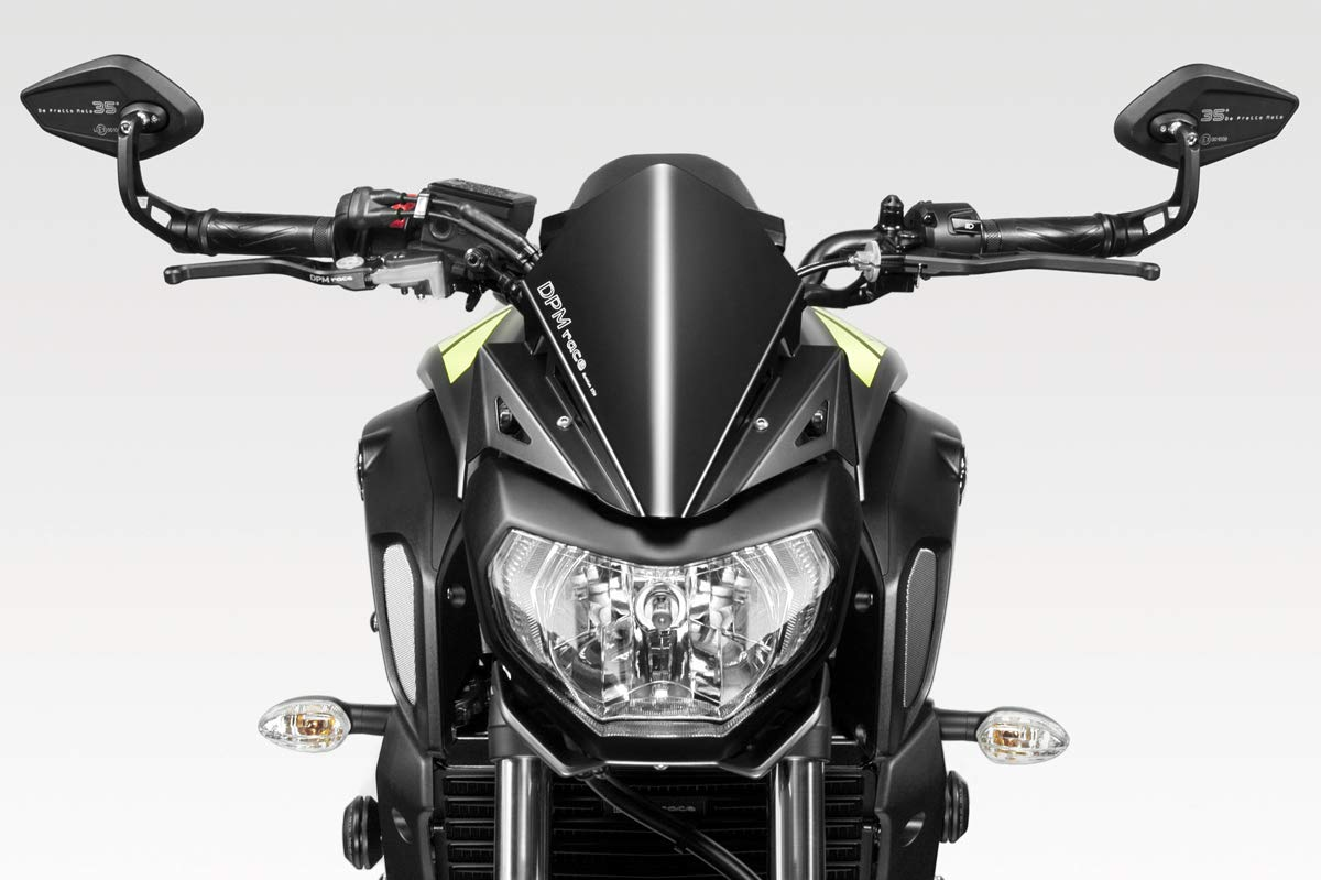 MT07 FZ07 2014//17 - 100/% Made in Italy Motorradzubeh/ör De Pretto Moto - Aluminium Windschild Windabweiser Scheibe Hardware Bolzen Enthalten R-0738B Windschutzscheibe Warrior DPM