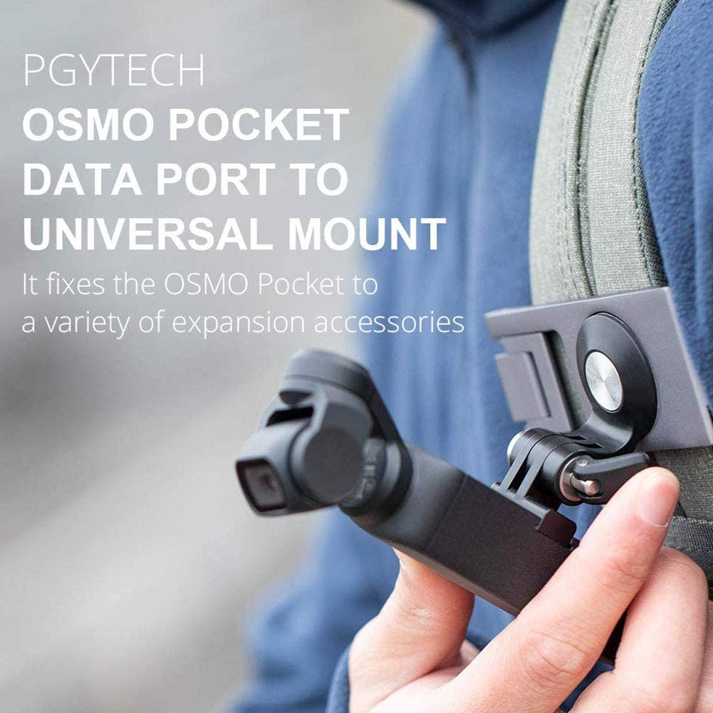 3pcs Tools Mount Gimbal Accessories ABS Data Port Universal for DJI OSMO Pocket Black