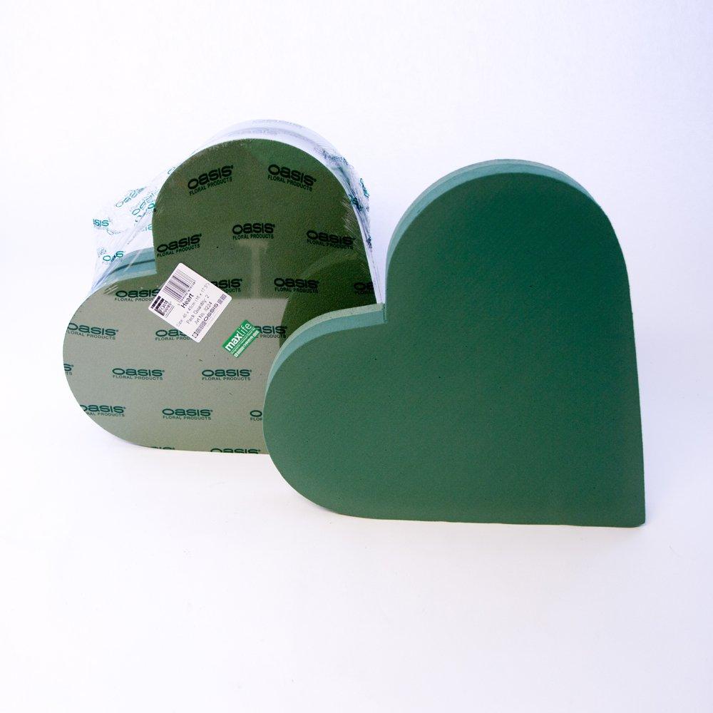 2 Stück Oasis Blumen Schaumstoff Herz Rahmen 45.7cm