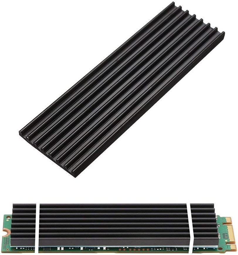 2 Pack PCIe NVMe M.2 SSD Heatsinks m2 Cooler with Nano Silicone 2280 Thermal Pad
