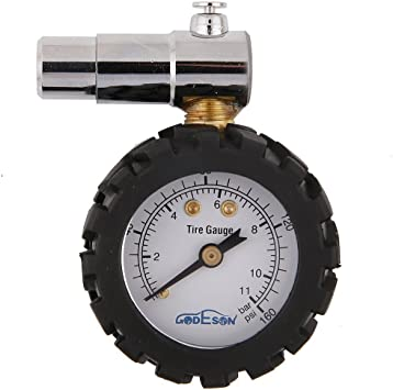 /_UK New Quality Car /& Bike Tyre Pressure Reader Gauge Tool with Case PSI /& BAR