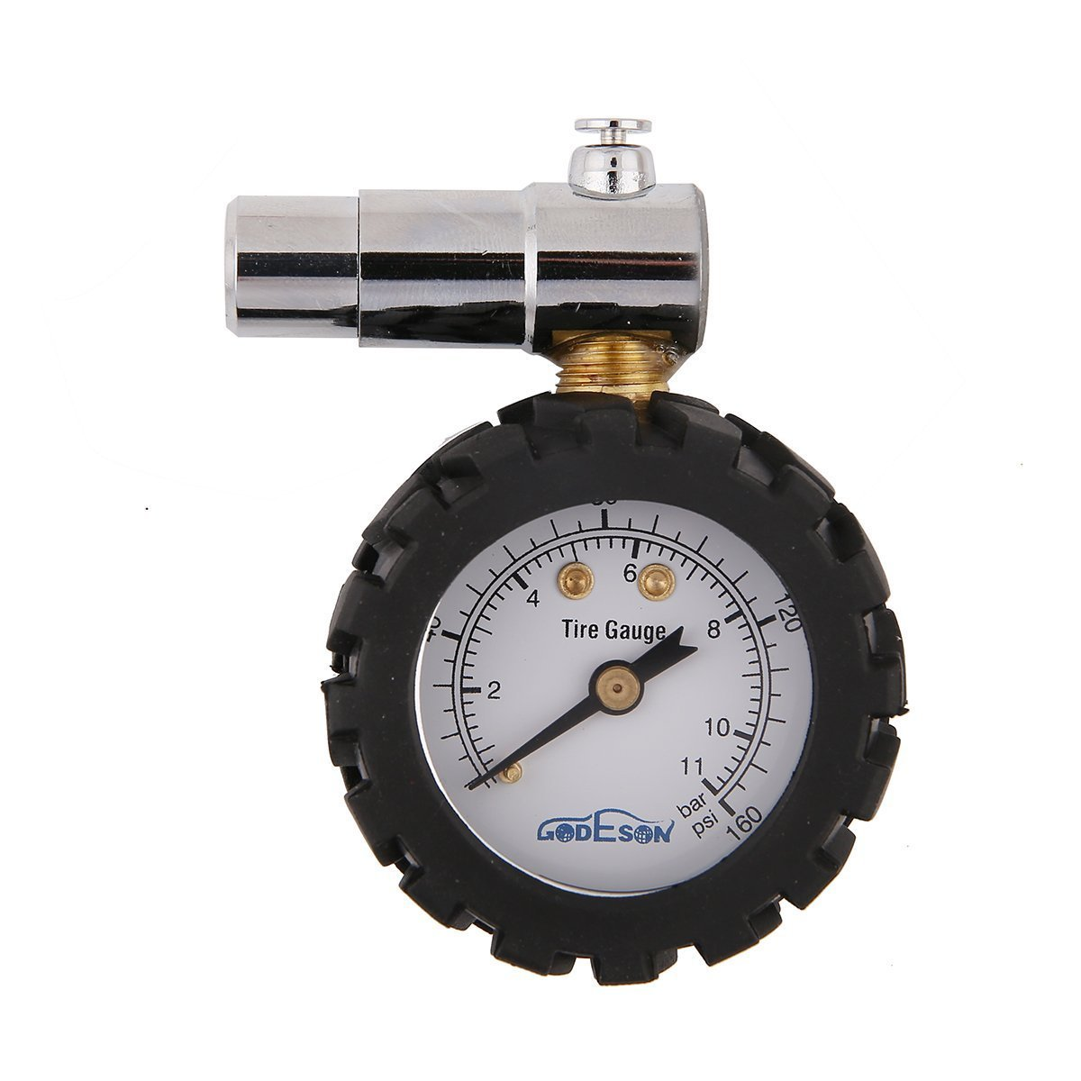Godeson Smart Bike Tire Pressure Gauge 0-160psi,Dual Scale with 0-11bar, Professional for Presta Valves of Bicycle Tire presta valve tire gauge GD005B