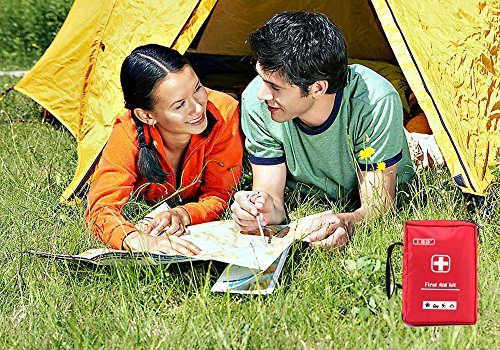 I Go A1FA02 Expedition First Aid Kit with Nylon Case, Red