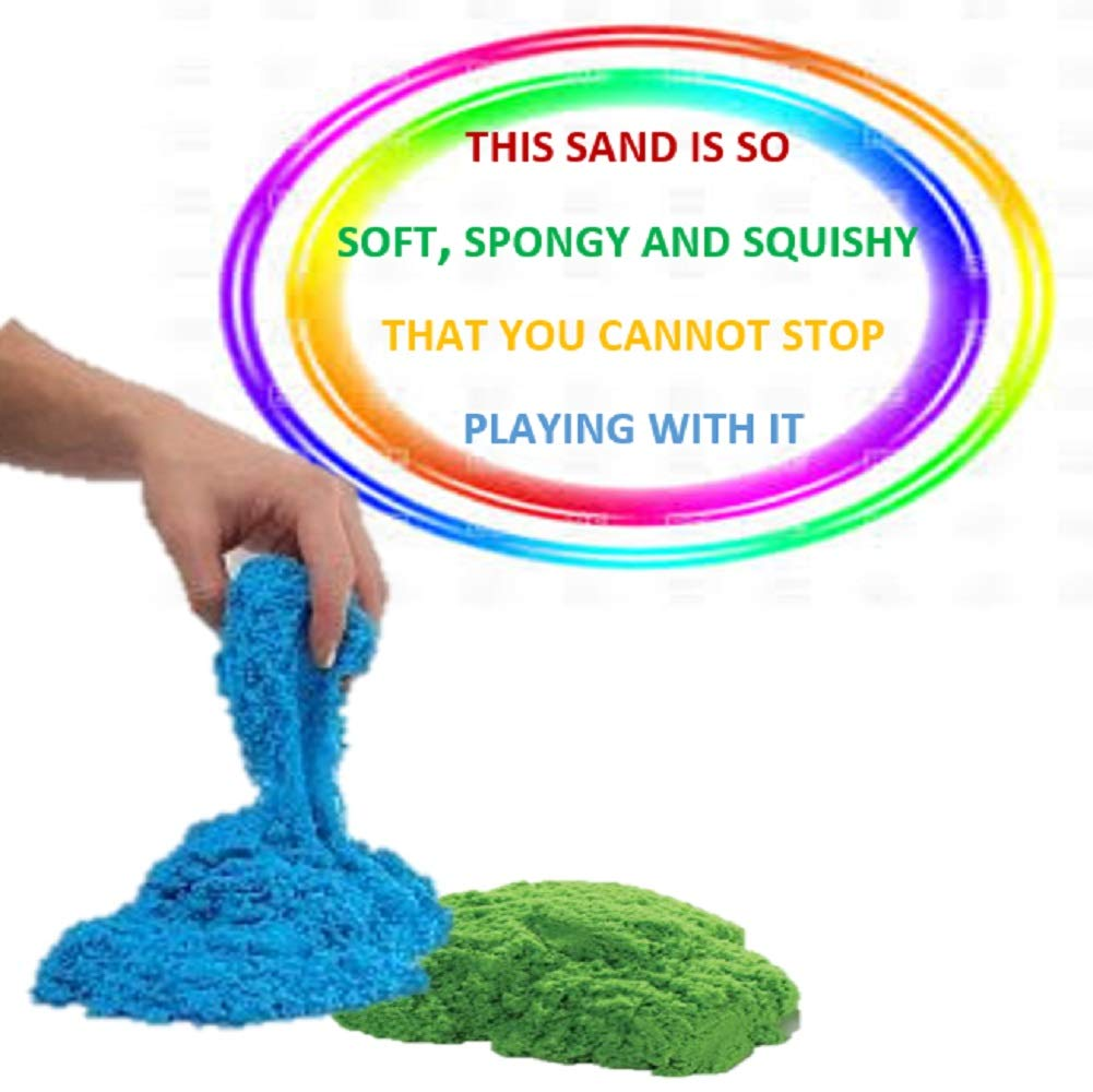 Great Sensory Toy Moldable Sand Art Blue and Green walla Colored Play Sand Bulk for Kids 5 Lbs Original Moldable Sensory Play Sand Bring The Beach Sand to Your Home with Mess-Free Magic