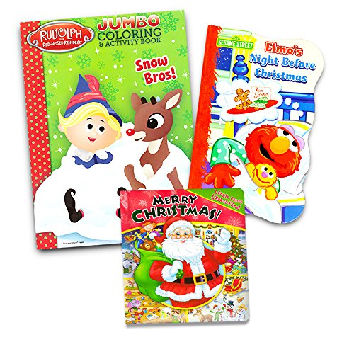 Rudolph The Red Nosed Reindeer Set (Christmas Coloring and Activity Books Set for Kids Toddlers (Rudolph the Red-Nosed Reindeer Coloring Book, Sesame Street Board Book, Santa Look and Find Book))