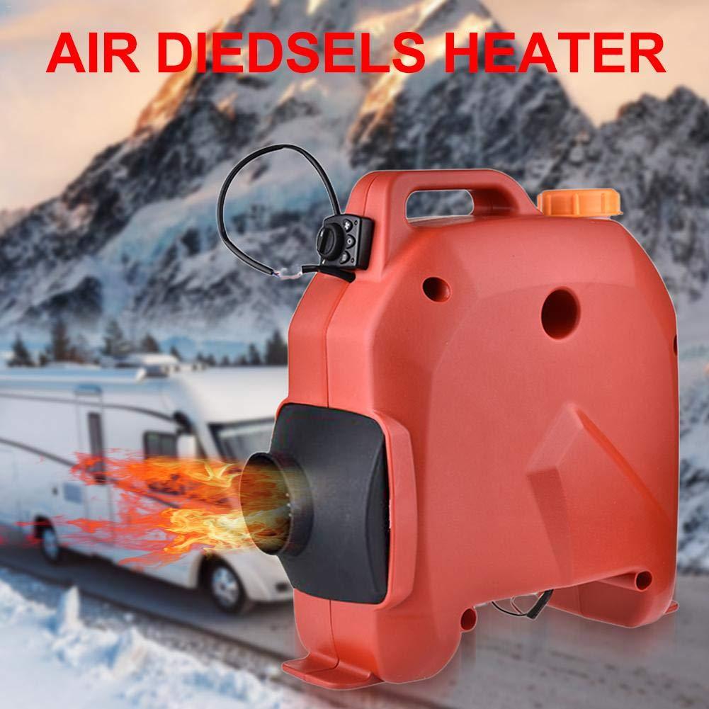 Car Heater,5KW 12V//24V Car Air Diesels Timing Parking Heater For RV 39.5X16X38m//Red,Black Boats,Caravans Motorhome Trailer,Trucks