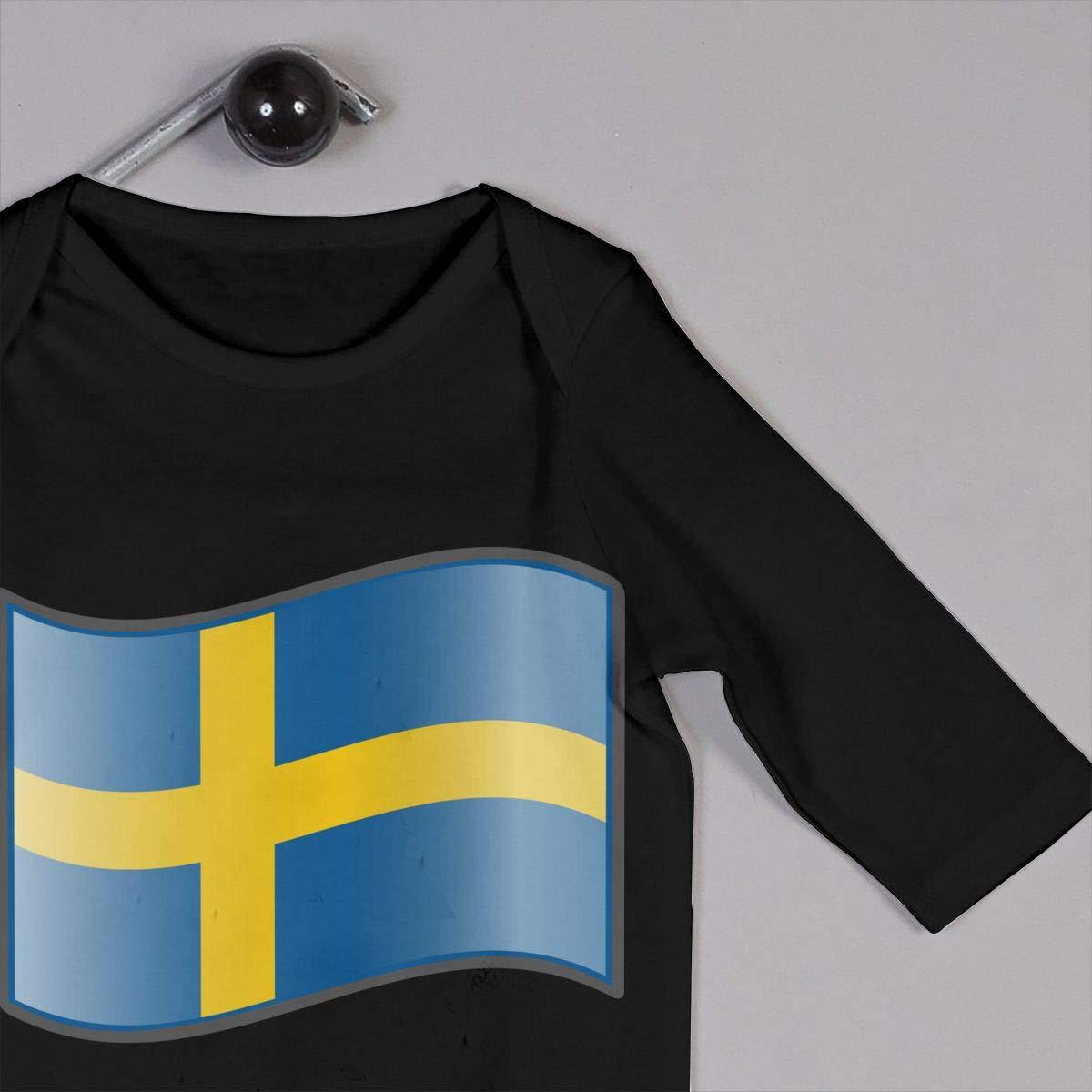 eledenimport.com Rompers Clothing UGFGF-S3 Swedish Flag Newborn ...