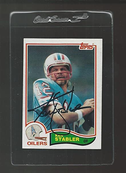 4aec96178 Ken Stabler Signed Auto 1982 Topps #105 Football Card Autograph - NFL Autographed  Football Cards