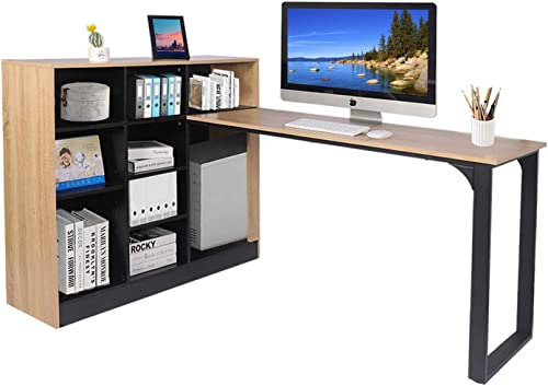 L Shaped Computer Desk Large Office Desk Study Writing Table Workstation