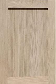 Elegant Unfinished Oak Shaker Cabinet Door By Kendor, 24H X 16W