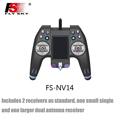 Flysky NV14 FS-NV14 RC Transmitter Remote Controller 2.4G 14CH Touch Screen with FS X8B iA8X Receiver USB Simulator Bluetooth for RC Cross Racing FPV Drone Quadcopter: Toys & Games