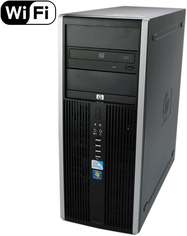 HP 8100 Elite Tower - Quad Core i5 3.2GHz, 8GB DDR3, 1TB HDD, Windows 10 Pro 64-Bit (Renewed)