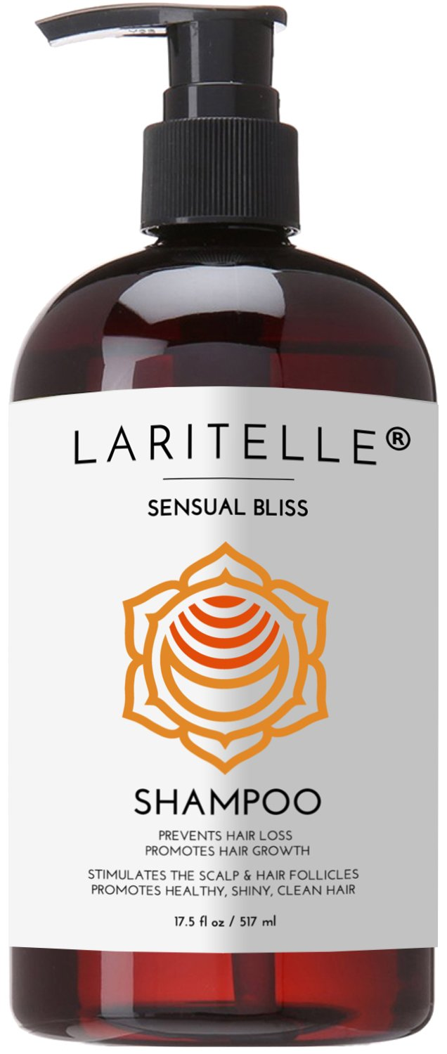 Laritelle Organic Shampoo 17.5 oz. Argan Oil, Rosemary, Palmarosa. Promotes Hair Growth, Prevents Hair Loss. GF by Laritelle