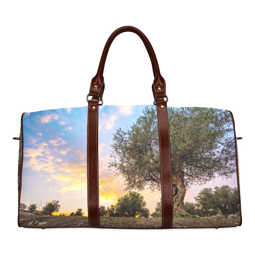 Amazon Com Travel Duffel Bag Olive Olive Trees In Olive Gardens