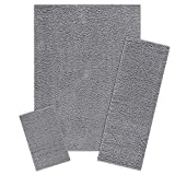 Living Room Furniture Sets Area Rugs Sets, Maples Rugs [Made in USA][Catriona] 3 Piece Set Non Slip Padded Large Runner & Rug for Living Room, Kitchen, & Bedroom - Grey Funnel
