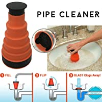 Air Pressure Drain Pump Pipe Dredger Cleaning Tool, Toilet Plunger Kitchen Sink Sewer Dredge Tool, Great for Most Sewer Pipe