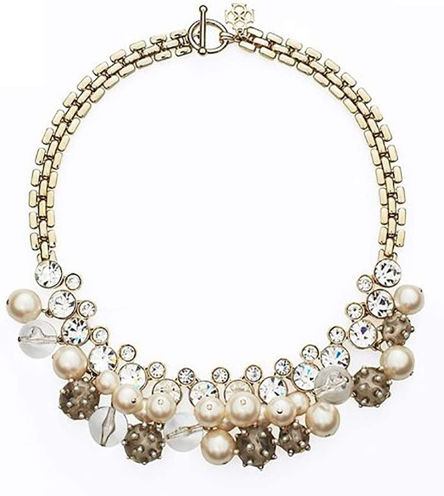 Blingbling_M Collar De Piedras Preciosas De Perlas Salvajes Femenino Retro Elegante Encanto Collar Joyería Cristal Coloreado Cristalino Collar Grueso Collar De Las Señoras