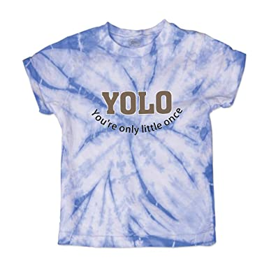 f5e5525ba27f Yolo You are Only Little Once Short Sleeve Crewneck Baby Boys-Girls Cotton  Tie Dye